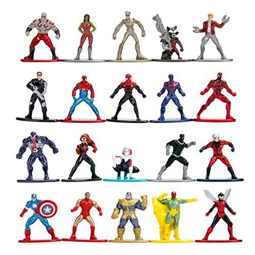 Jada Toys 253225006 Marvel - Confezione da 20 statuette da collezione, motivo onde, 2 pezzi, 4 cm