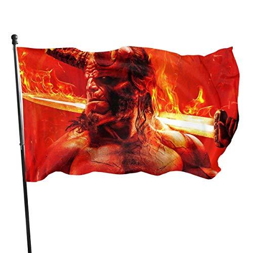 BHGYT Movie Hero Bandiera a Tema 3x5 FtDecorative All'aperto Anti UV Sbiadimento all'Interno Bandiere Stagionale e Festivo Bandiera Bandiera Banner Poliestere 3x5 Piede