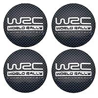 車の部品4 個 56 ミリメートル WRC 車のホイールのセンターハブキャップカバーステッカーリムエンブレムバッジスバルの森人間ライオン XV インプレッサ WRX WRC-Checkered black