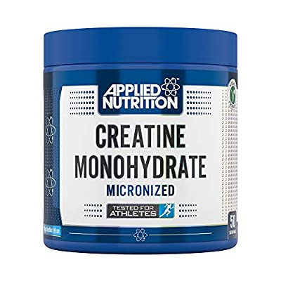 Applied Nutrition Creatine Monohydrate Micronized Formulated for Optimum Muscle Growth - Increases Physical Performance - Pure Unflavoured Amino Acids, 50 Servings (250g)