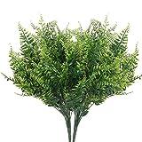 DWANCE 2PCS Plantas Artificiales Planta Falsa de Helecho Artificial Arbusto Verde Decorativas Exterior Interior para Salón, Jardín, Boda, Oficina