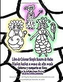 Libro de Colorear Simple Susurro de Hadas Diseños hechos a mano de alta moda Colorea y...