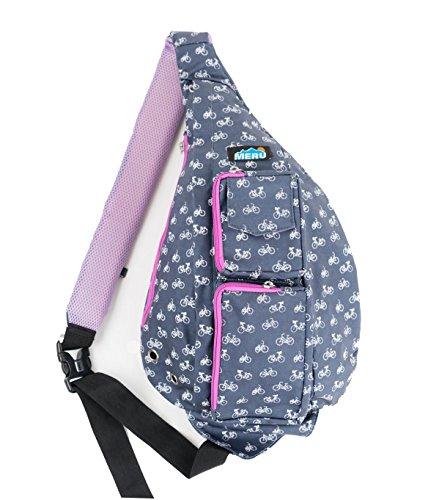 Meru Sling Bag - Sling Rucksack für Damen & Herren - Crossbody Taschen für Damen & Herren, Bike Purple, Größe S