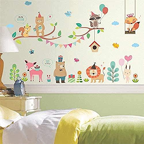 Selva salvaje zoológico animal diseño de pared etiqueta de pared decoración de globo año decoración