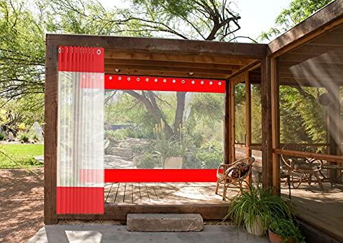 AWSAD Cortinas de Exterior para Patio a Prueba de Agua Adecuadas para Pabellones/Balcones/Garajes, para Resistir el Frío Severo, Se Pueden Personalizar (Color : Red, Size : 2.5x2.5m)