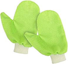 MIG4U Dusting Mitts Microfiber Glass Cleaning Mitten with Thumb for General Purpose,Cleaning,Home,Polishing,Drying 1 Pairs Green