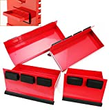 New 4pc Magnetic Toolbox Tray Set Tool Box Cabinet Side Shelf Storage truck mount