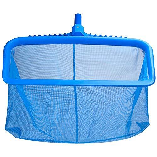Fornorm Zwembadnet, schuimnet met bladvangnet, vijverreinigingsapparaat met versterkt kunststof frame, 45 × 31,5 × 2,5 cm