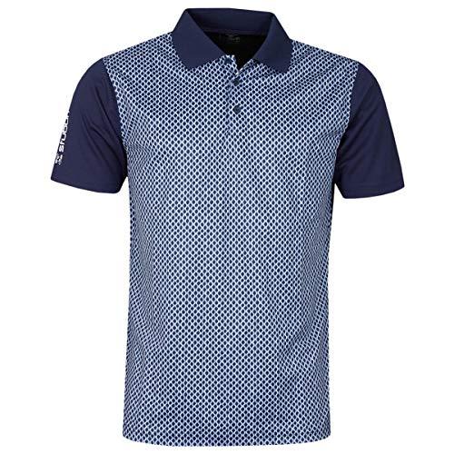 Stuburt Golf SBTS1134 Chartsworth Herren Poloshirt, atmungsaktiv, feuchtigkeitsableitend, Stretch M Midnight