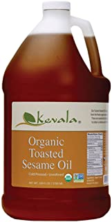Kevala Organic Toasted Sesame Oil, 128 Fluid Ounce