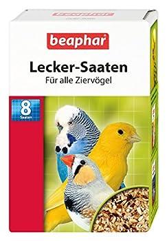 Beaphar délicieux Mélange de semences pour oiseaux Ornement | Semences de haute qualité pour tous type d'oiseaux | Vitamine & mineralstoffreicher Friandise | abwech slungreiche ernährung |6er Pack