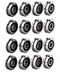 Jeremywell RM2-2RS 3/8 inch V Groove Roller Bearing Rubber Sealed Line Track (20PCS)