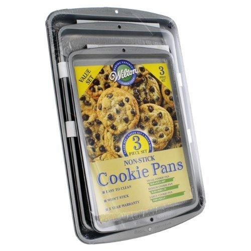 Wilton Non-Stick Cookie Pans, 3 Piece Value Set by Wilton Industries, Inc