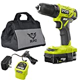 Ryobi Drill Kit Bundle, 18-Volt ONE+ Cordless 3/8 in. Drill/Driver with 1.5 Ah Battery, Charger and Buho Tool Bag