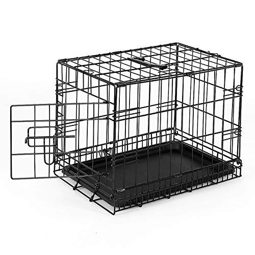 dibea Gabbia di transporto pieghevole per cuccioli per cani con 1 porta (S) 45x31x36 cm