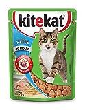 Ração Úmida Kitekat Sachê Peixe para Gatos Adultos 70 Tamanho G Kitekat Raça Adulto, Sabor Frutos do Mar 70 G