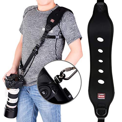 COOLWILL - Tracolla per Fotocamera Professionale ad Azione Rapida, con Clip Quick Release e Funzione di Sicurezza, Sistema Quick-Lock, Fino a 15 kg, C