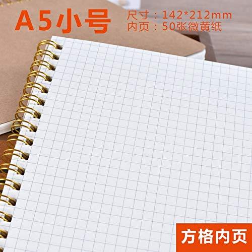 1 stks Notebook A5 Dagboek Medium Kraft Papier Grid Point Blank Dagelijks Wekelijks Plan Book School benodigdheden A5 Grid 1 stks