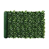 """Windscreen4less Artificial Hedge Faux Ivy Fence Privacy Screen Fake Leaf Balcony Fencing and Vine Greenly UV Procted Wall Decore Outdoor Garden Decorartion, 58""""x393"""""""