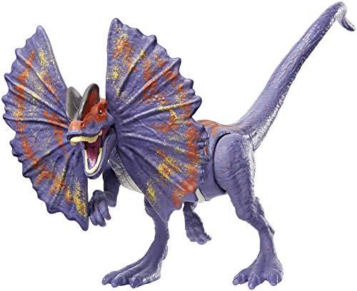 Jurassic World Dinorivals Dilophosaurus Dinosonidos, juguete de dinosaurio (Mattel GFG69)
