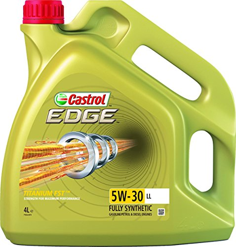 Castrol 15668A Edge Olio Motore Auto 5W-30 Ll Longlife Titanium 4L