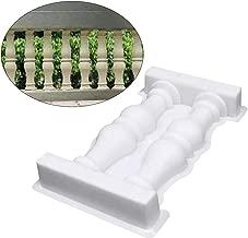 GEZICHTA Roman Column Fence Mold, 28x50cm Garden Fence Railing Plaster Concrete Mold Plastic Fence Mould Double Vase Art Path Mold for DIY