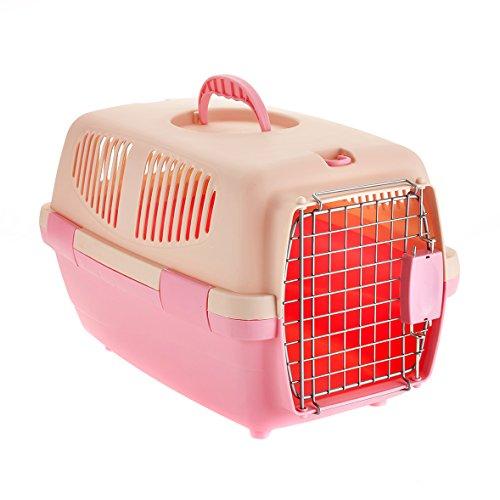 Little Friends Tansy Cage de Transport en Plastique pour Chat/Chien Rose 46 x 30,5 x 28,3 cm