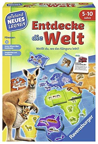 Ravensburger 24990 - Entdecke die Welt - Spielen und Lernen für Kinder, Lernspiel für Kinder von 5-10 Jahren, Spielend Neues Lernen für 2-4 Spieler