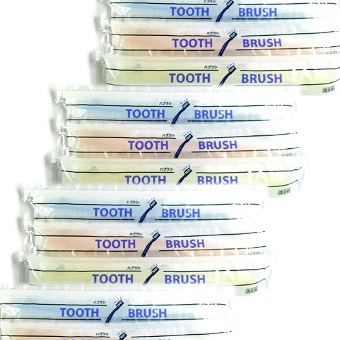 シャープ私達リスナーホテルアメニティ 業務用 使い捨て(インスタント) 粉付き歯ブラシ(200本組)(旅行用?お客様用にも)