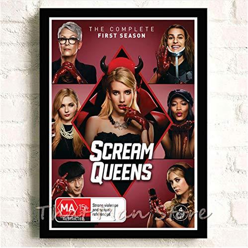 meilishop Druck Auf Leinwand Rahmenloses Gemälde Scream Queens Poster Klares Bild Wandkunst Gute Qualität Wohnzimmer Dekoration A631 (50X70Cm) Ohne Rahmen