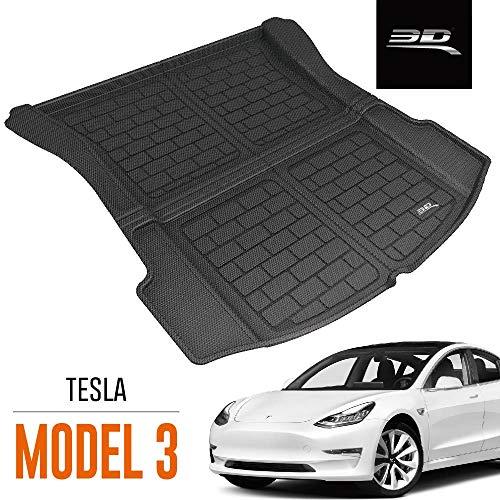 3D MAXpider Tesla Model 3 Alfombrilla Maletero Trasera para Todo Tipo De Clima