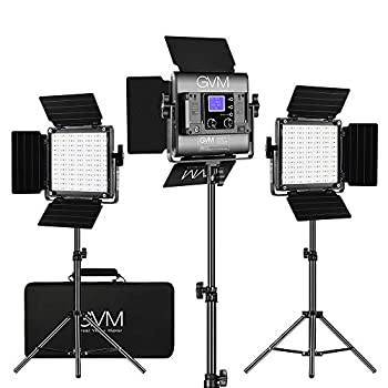 GVM RGB LED Video Lighting Kit 800D Studio Video Lights with APP Control Video Lighting Kit for YouTube Photography Lighting 3 Packs Led Light Panel 3200K-5600K 8 Kinds of The Scene Lights