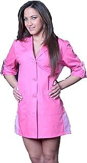 Camice casacca mujer trabajo limpieza maestra supermercado escuela de asilo Fucsia L
