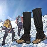 YOMERA Polainas de Senderismo Impermeables, 2pares 46cm Polainas Extendidas para Nieve Polainas Polainas Impermeables para La Nieve de Montaña Resistentes Al Viento para Senderismo,Escalad