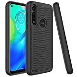Venoro Moto G Power Case, Slim Hybrid Dual Layer Anti Scratch Shockproof Rugged Phone Protection Case Cover for Moto G Power 2020 6.4inch (Black)