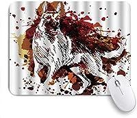 マウスパッド Mouse Pad German Shepherd Portrait of A Pure Breed Non-Slip Rubber Base for Computers Laptops