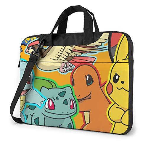 Pikachu,Bulbasaur,Charmander,Pidgeot, Squirtle Laptop Computer Shoulder Bag Carrying Case 13 inch