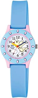 Q&Qfor Kids White Dial Resin Band Watch Vq13J008Y, Analog Display