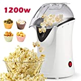Popcorn Popper, Hot Air Popcorn Maker, 1200W Popcorn Machine with Measuring Cup, Removable Lid,...