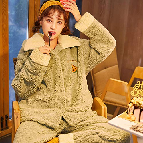 Bayrick Pijama Sexy Mujer Invierno,Pijama para Mujer chá