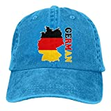 Gorra de béisbol para hombre y mujer, sombreros de camionero de mezclilla Snapback gorra de béisbol bandera alemana...