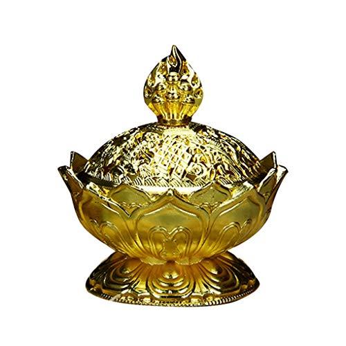 censhaorme Forma de la Flor Quemador de Incienso de Humo Cono Aroma Quemador Holder decoración del hogar Oficina Ornamento