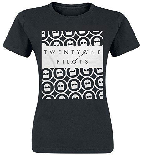Twenty One Pilots Women's Interlock T-shirt Black