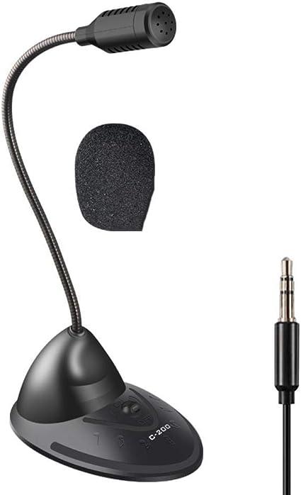 Clase en L/ínea Wendry USB Micr/ófono de Computadora de Escritorio,Micr/ófono de Computadora de Largo Alcance para Videoconferencia etc Transmisi/ón de Grabaciones Juegos