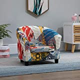Ansley&HosHo-EU Kids Sofa Chair, Upholstered PU Leather Single Sofa Couch Seat for Children Toddlers, Cushioned Sofa Armchair for Kids Room Playroom Living Room Bedroom