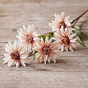 Gardening Supplies, 7 Retro Cosmos Artificial Flowers Sunflowers, Wedding Party Floral Decorations