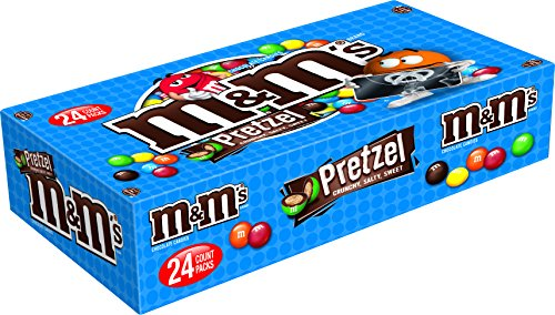 M&M'S Pretzel Chocolate Candy Singles Size 1.14-Ounce Pouch 24-Count