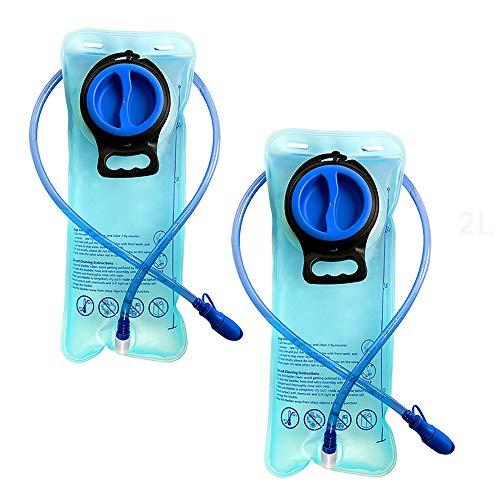 2 Pack 2L Poche D'hydratation Isolé Réservoir d'eau Sac sans BPA pour Randonnée Vélo Escalade Chasse Course
