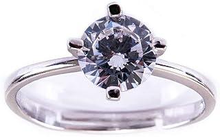 SCICCHERIE Anello Solitario Regolabile Diamond Argento 925 ZIRCONE 6MM