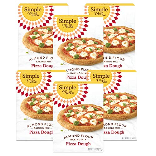 Simple Mills Almond Flour, Cauliflower Pizza Dough Mix, Gluten Free, Made with whole foods, 6 Count (Packaging May Vary)